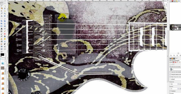 tutorial gimp decoracion guitarra